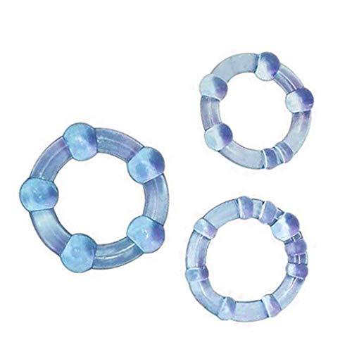 3Pc Perlen schloss feinen ring penis ring verzögerungsring,...